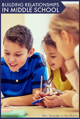 """Building relationships in Middle School is all about """"seeking to understand before being understood"""".    Get some strategies to help you do this in your own classroom.  #teaching #backtoschool"""