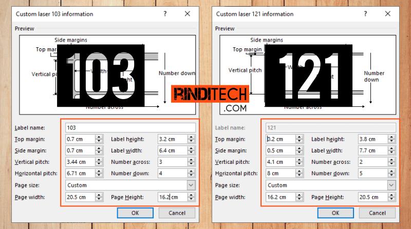 Cara Print Label Undangan 103 dan 121 di Microsoft Word ...