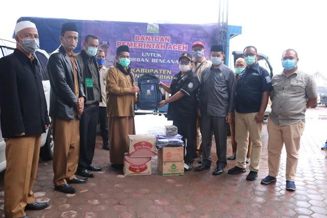 Banjir dan Longsor Landa Bener Meriah, Pemerintah Aceh Salurkan Bantuan