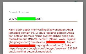 Jangan Panik Jika Saat Melakukan Custom Domain Tidak Bisa di Simpan