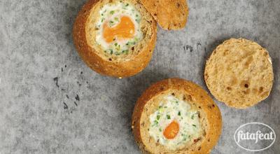 البيض المخبوز في خبز البرجر