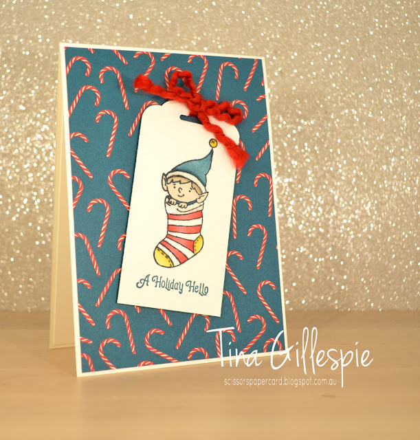 scissorspapercard, Stampin' Up!, Art With Heart, Heart Of Christmas, Elfie, Night Before Christmas DSP, Stampin' Blends, Shimmery Crystal Effects