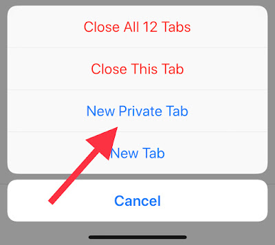 How to activate safari private browsing mode