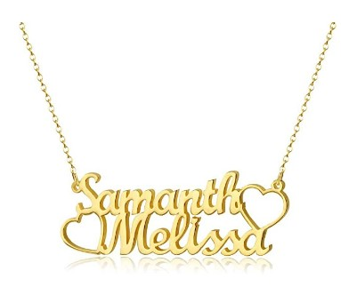 70% OFF  Personalized Names Custom Name Necklace Pendant,18K Gold Plated Nameplate Personalized Jewelry Name Chain Gift for Women