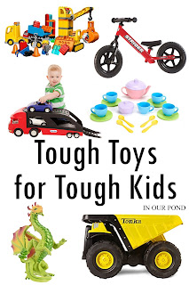 Tough Toys for Tough Kids- a gift guide from In Our Pond  #christmas  #holidays  #autism  #giftguide  #autistic  #ASD  #SPD  #sensory