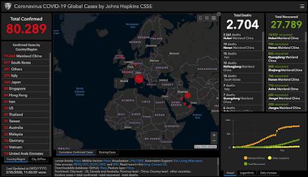 Informationen zum Coronavirus auf einer interaktiven Weltkarte | Anschauen, wo COVID-19 überall bestätigt wurde