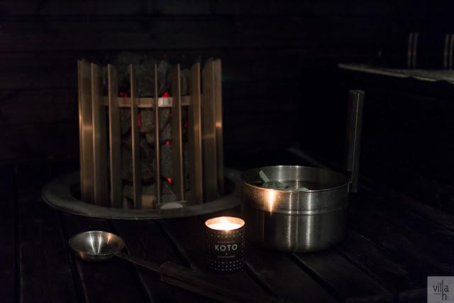 sauna, musta sauna, joulu sauna, eukalyptus