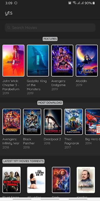 تحميل تطبيق Movie Browser 2019 - YTS Torrent Downloader لتحميل افلامك المفضلة