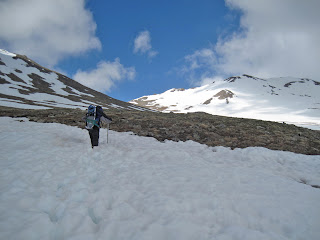 rotten snow on Mt. Massive in the late spring