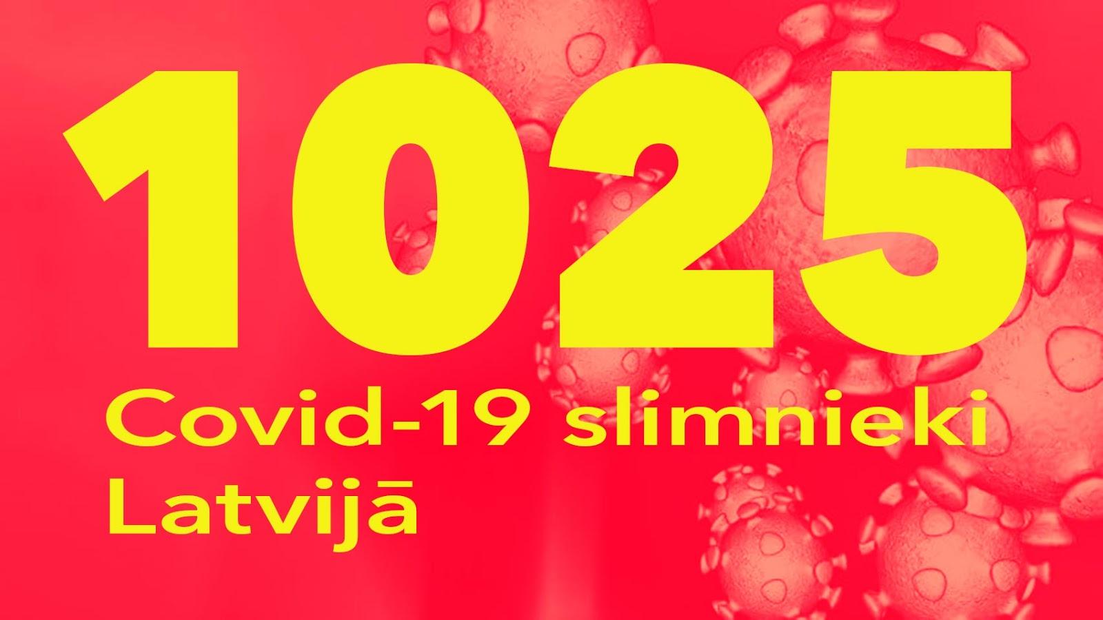 Koronavīrusa saslimušo skaits Latvijā 21.05.2020.