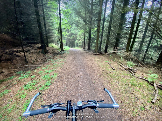 Hamsterley Forest cycling mountain bike trail red route mob map route