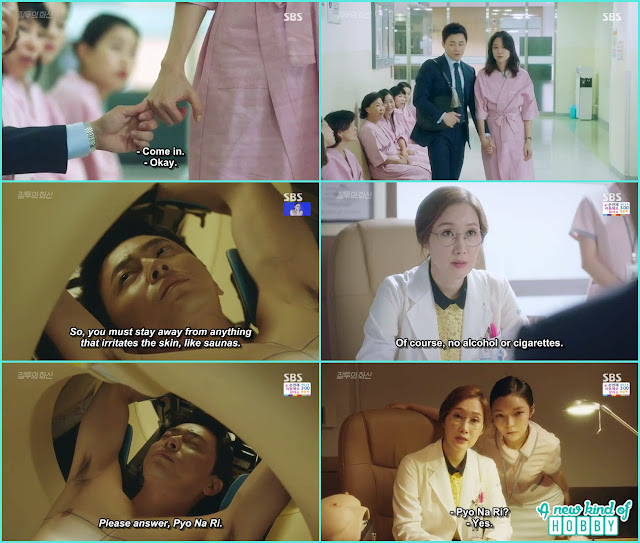 hwa shin took the radiation treatment under the name of na ri he also grab na ri pinky and her bag- Jealousy Incarnate - Episode 8 Review