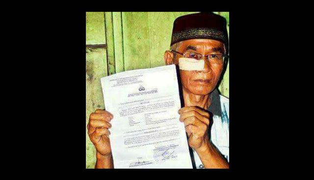 Biadab, Bapak ini dipukuli Oknum Polisi Saat Menjadi Imam Tarawih