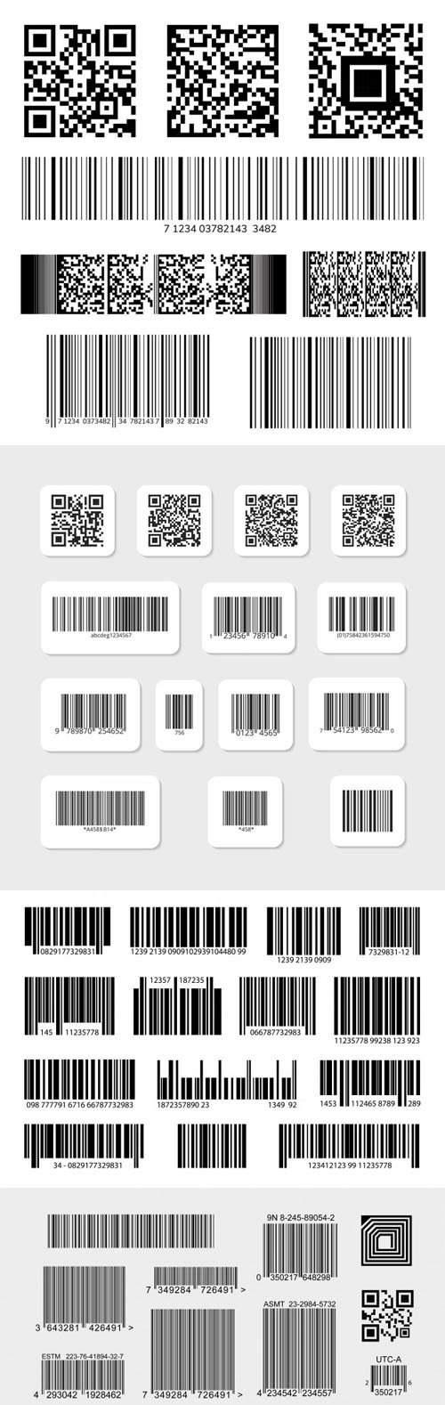 40+ Download Gratis Vector Barcode Digital dan Template Vektor Stiker