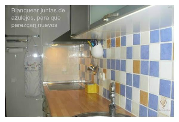 C mo blanquear las juntas de los azulejos decoraci n - Como limpiar las baldosas de la cocina ...