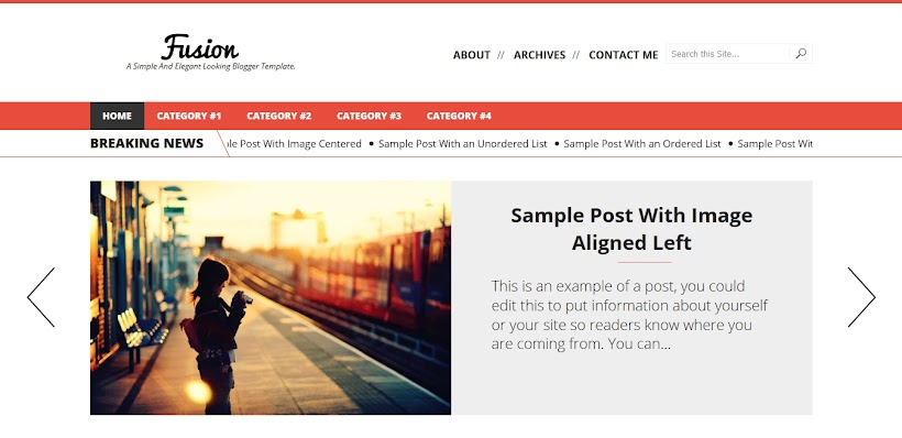 Fusion Free Blogger Template