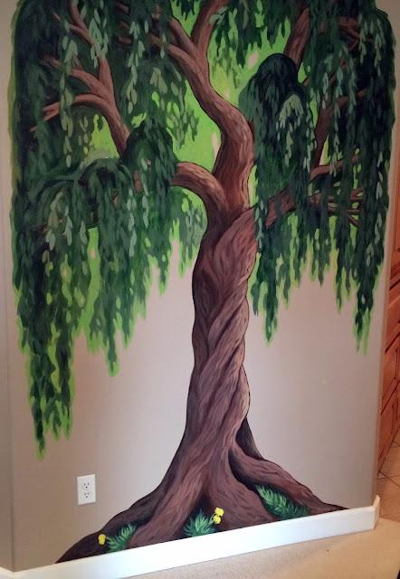 family tree mural, family tree, muralist portland, portland mural, tree mural, willow tree mural