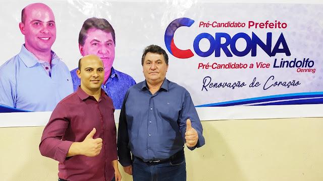 Manoel Ribas: Convenção confirma pré-candidatura de Corona a prefeito e Lindolfo de vice