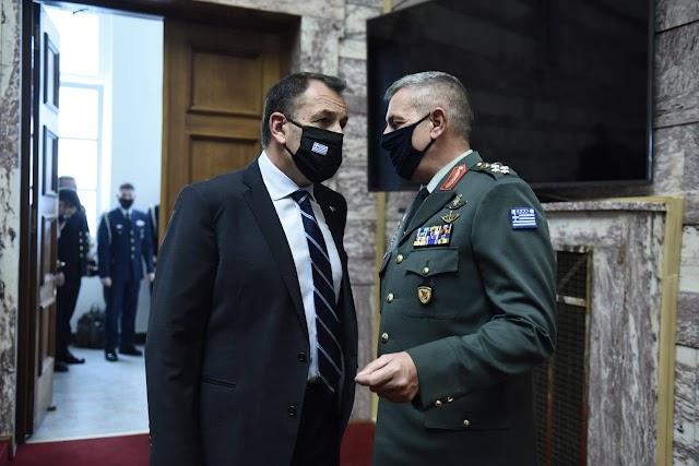 Παναγιωτόπουλος και Αρχηγοί ενημέρωσαν τη Βουλή για την πορεία των εξοπλιστικών (ΦΩΤΟ)