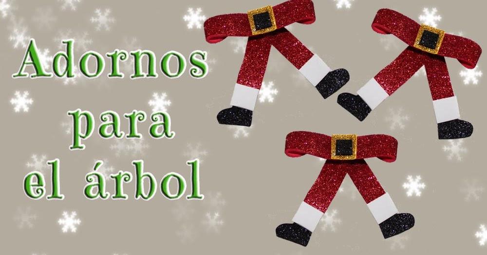 Manualidades herme adornos para el arbol lazos de papa noel - Lazos arbol navidad ...
