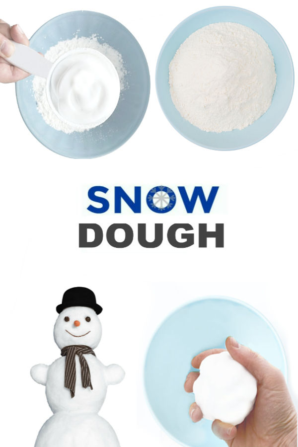 2-INGREDIENT SNOW DOUGH - icy-cold just like real snow!! #snowdoughrecipe #snowdough #makesnow #makesnowforkids #snowdoughrecipecornstarch #snowrecipesforkids #growingajeweledrose #wintercrafts #winteractivities #snow