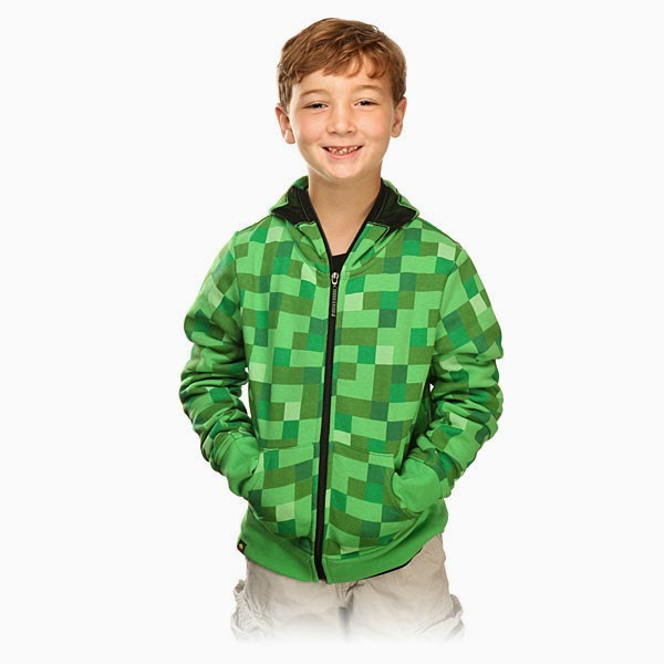 2. Minecraft Premium Youth Zip Up Hoodie