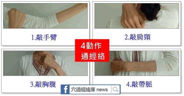 """4個表現說明""""經絡不通"""",三個動作,給身體""""通一通""""(通則不痛,痛則不通)"""