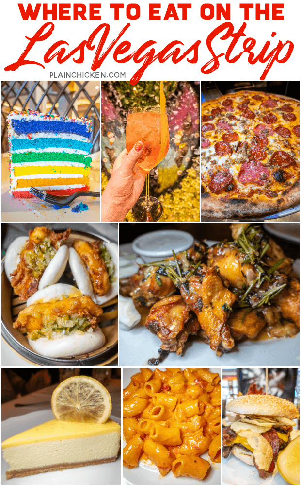 Where to Eat on the Las Vegas Strip - we ate at 10 different places on the Las Vegas Strip. 9 were great - 1 was not so great. Pizza, burgers, sushi, steak, Italian, cake - you name it, we ate it! Save this post for your next Las Vegas Getaway! #travel #lasvegas #vegas #vegasstrip