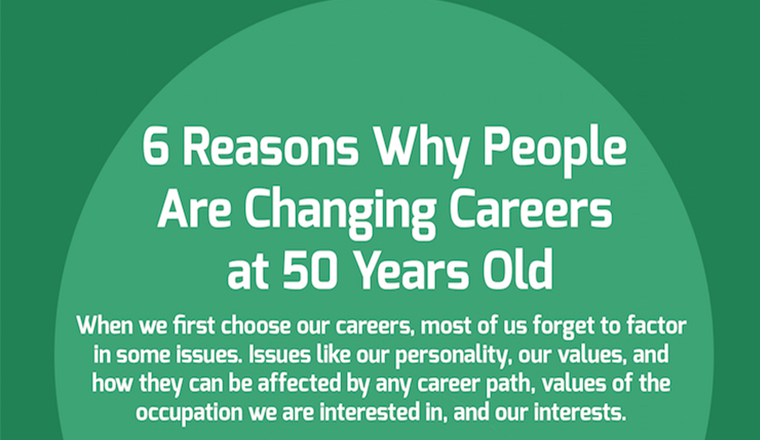 Why Change Career at 50 Years Old #infographic