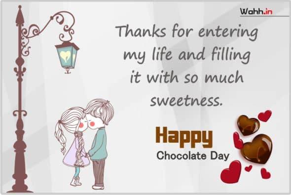 Chocolate Day Status  For Girlfriend