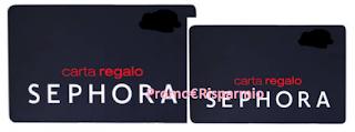Logo Sephora: vinci gratis carte regalo da 50 e 100 euro