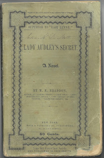 Green paper cover to Lady Audley's Secret