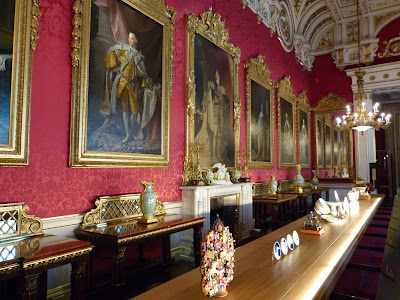 State gifts on display in the State Dining Room in a Royal Welcome  2015 exhibition at Buckingham  Palace   Photo © Andrew Knowles