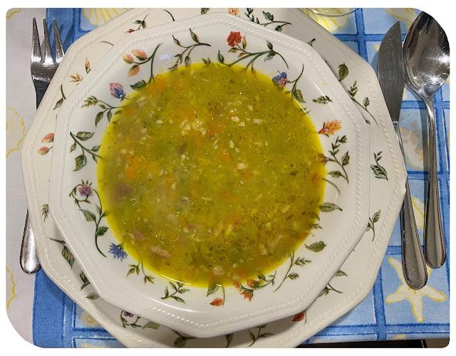 Sopa de verduras y jamón (Thermomix)