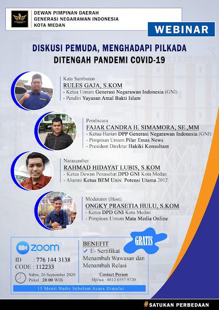 Webinar DPD GNI Kota Medan