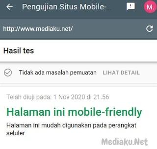 Menguji Situs Mobile Friendly Dengan Tools Google