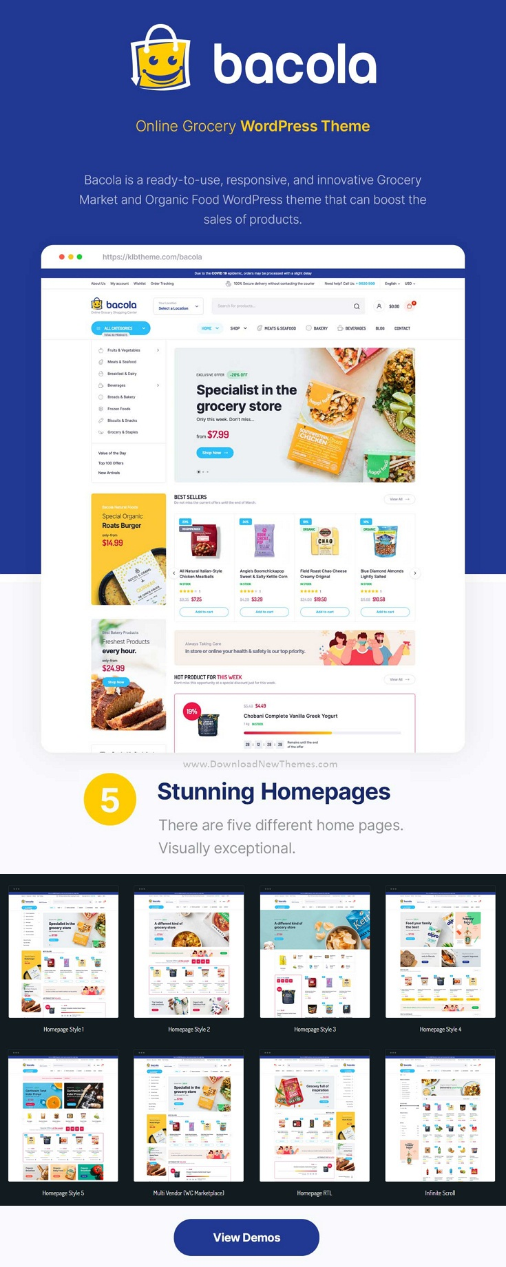 Grocery Store and Food eCommerce Theme