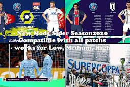 New Mods Sider Season 2020 (Low/Med/High) - PES 2017