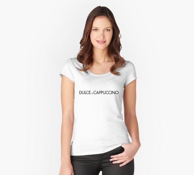 Dulce & Cappuccino parody logo t-shirt