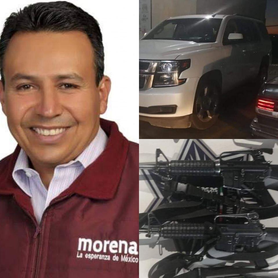 Detienen en Querétaro a Presidente Municipal de Acambaro; Guanajuato con Armas Largas