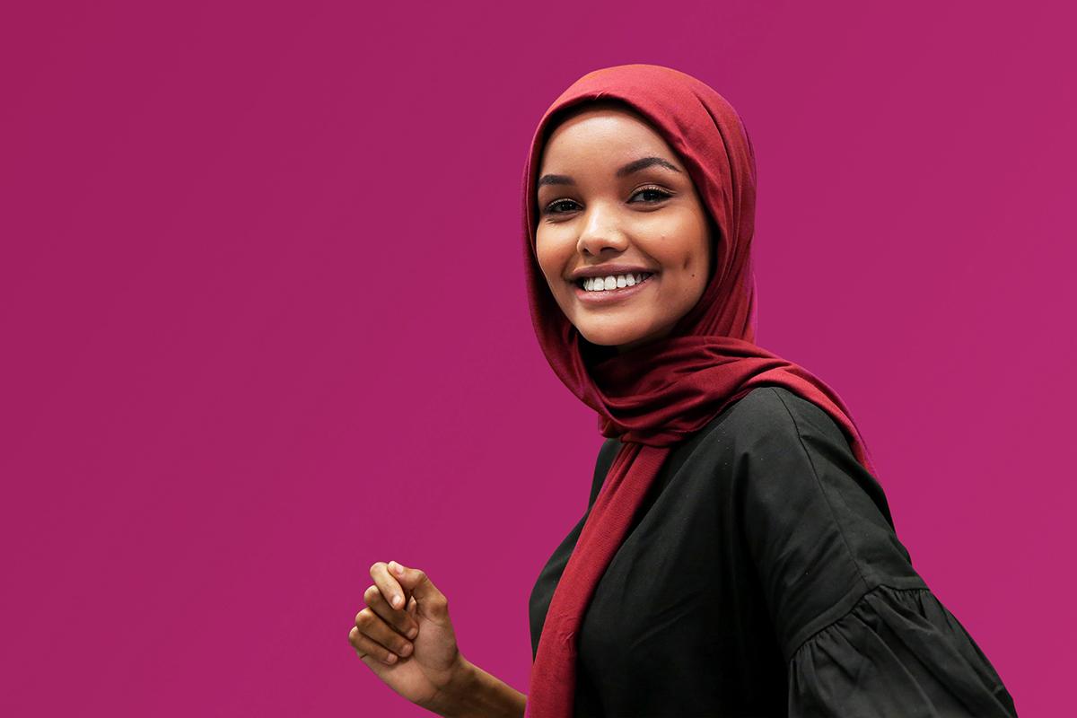 Kulit hityam mulus dan hijab model super model amerika Serikat