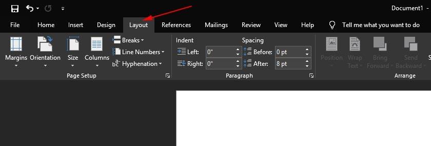 cara mengganti layout kertas di microsoft word