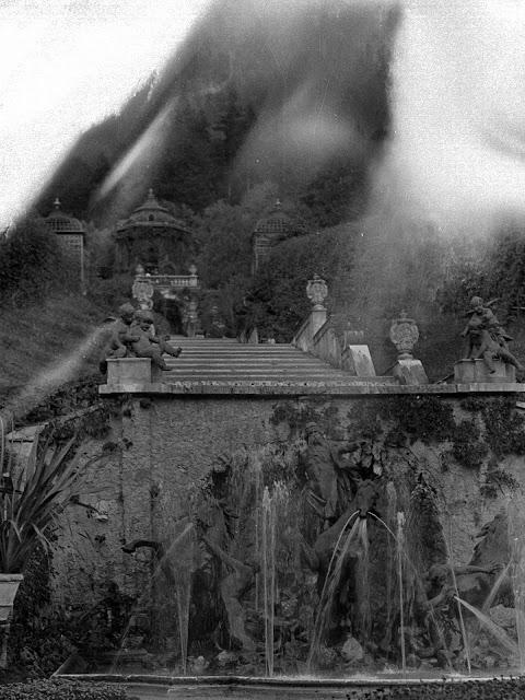 Detail -Neptunbrunnen auf Schloss Linderhof - um 1930