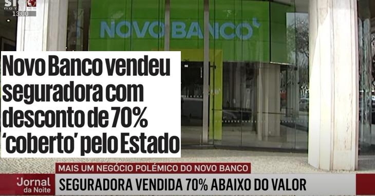 Novo Banco: Seguradora vendida 70 por cento abaixo do valor