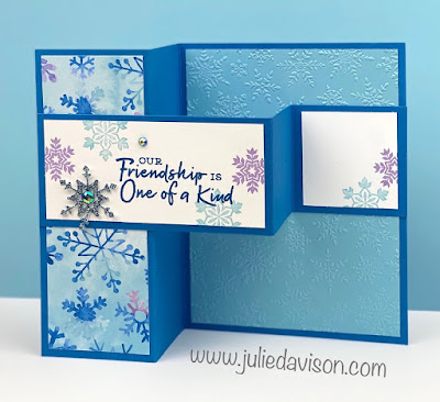 Stampin' Up! Snowflake Splendor ~ Snowflake Wishes Double Z Fold Card ~ www.juliedavison.com #stampinup