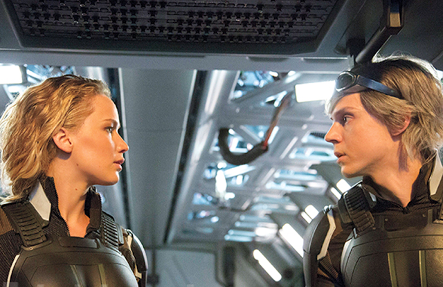 Jennifer Lawrence şi Evan Peters în X-Men: Apocalypse
