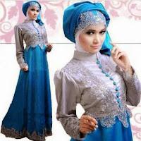 Desain gaun pesta muslim casual nan trendy