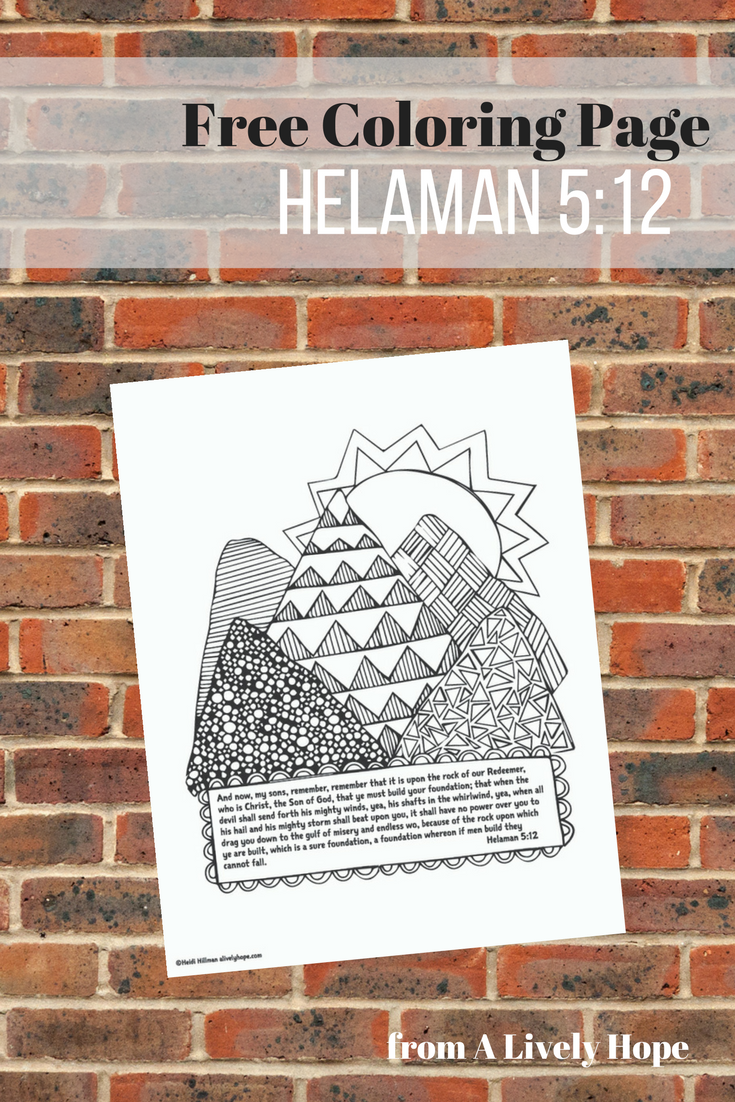 Lively hope free helaman 512 coloring page, i love mom coloring page