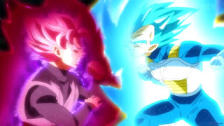 Black Goku vs Vegeta Blue