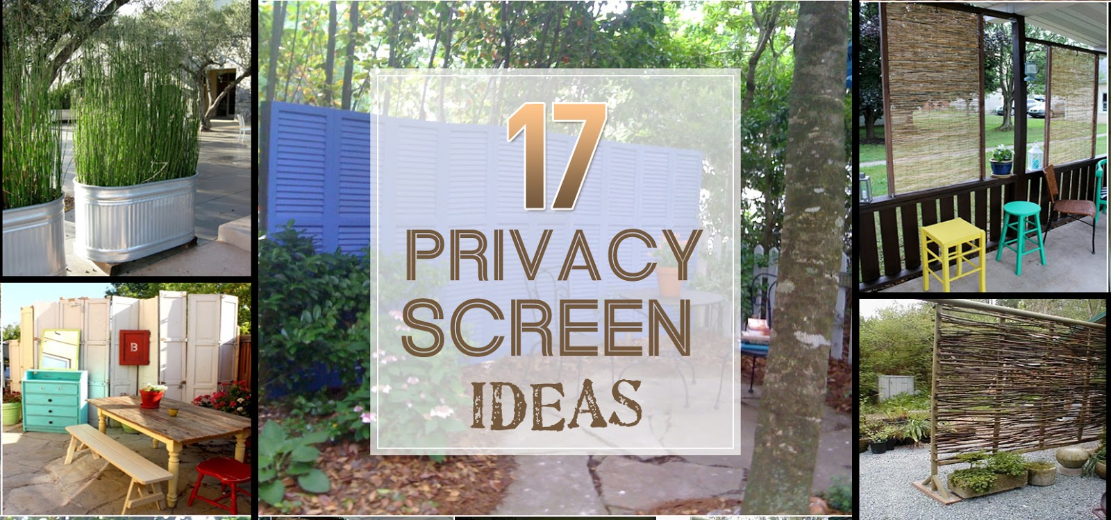 Back yard screening ideas for Outdoor privacy screen ideas